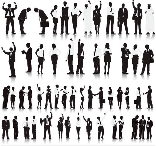 Silhouettes Business People 3 vector