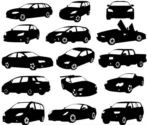 Silhouettes Transport vector