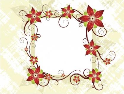 Silk Flower Design Card design vectors