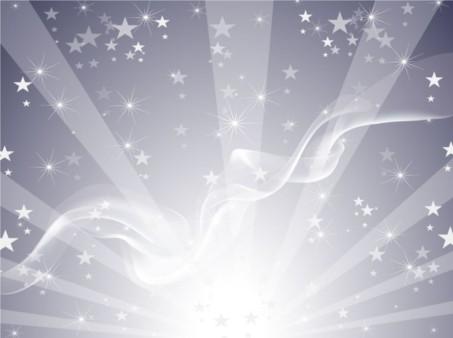 Silver Star Background set vector