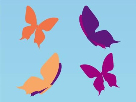 Simple Butterflies vector