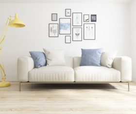 Simple home display interior decoration Stock Photo 01