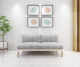 Simple home display interior decoration Stock Photo 07