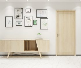Simple home display interior decoration Stock Photo 08