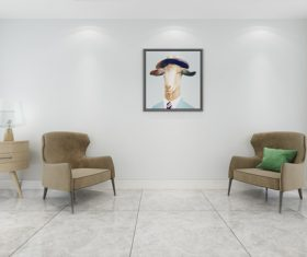 Simple home display interior decoration Stock Photo 15