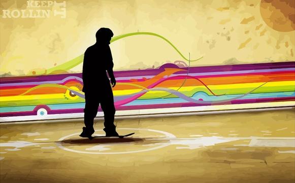 Skater Background Template art vector