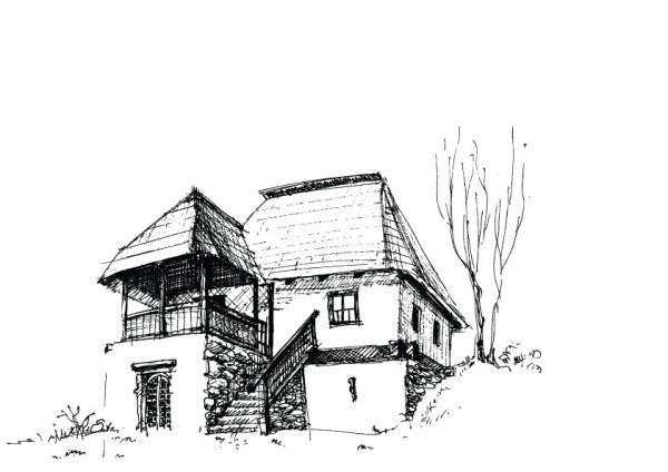 Sketch buildings free 3 vector