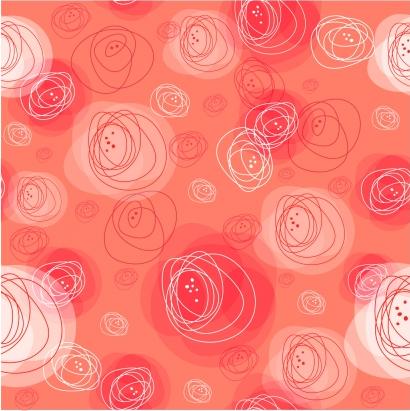 Sketch circle pattern Free vector