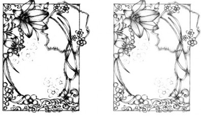 Sketchy Frames graphic vector