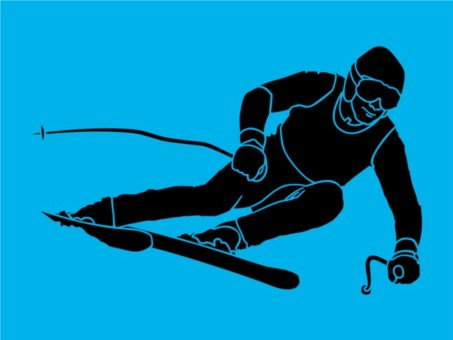 Skiing Silhouette vector graphic