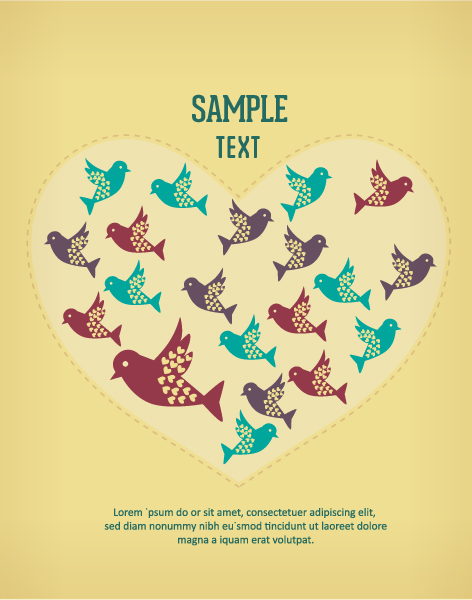 Small animals background 1 set vector