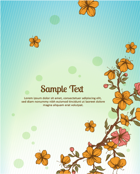Small flower background 1 vectors material