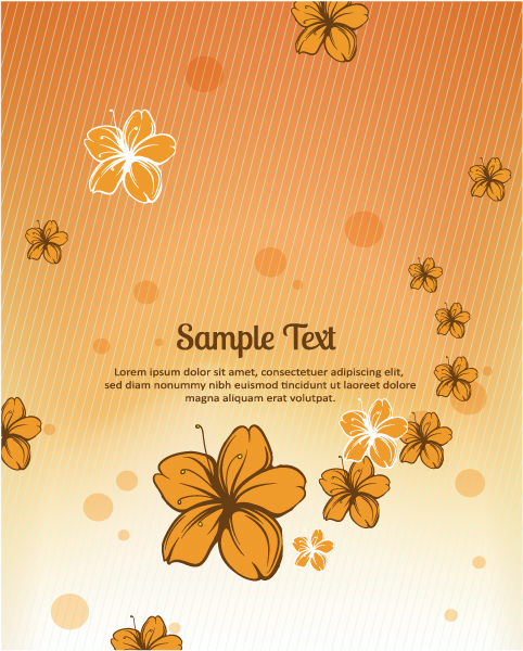 Small flower background 2 vector