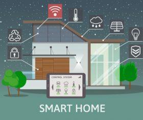 Smart home business template design vectors 05