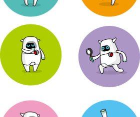 Smart tech robot cartoon vector