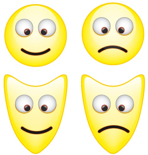 Smiley Mask Icons Free vector graphics