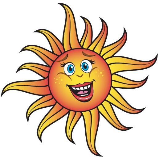 Smiling Cartoon Sun Vector vector