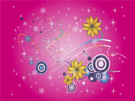 Snow And Flowers vector