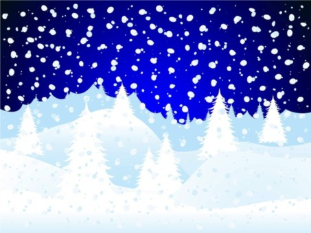 Snow Forest Illustration vector