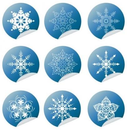 Snowflake Winter Set Vector design
