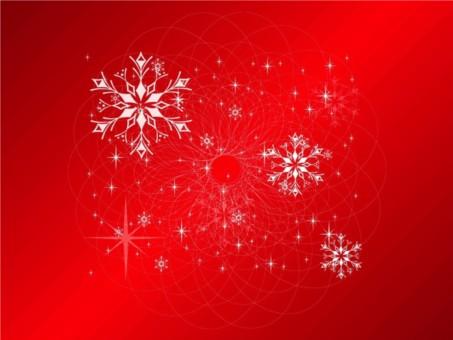 Snowflakes Card vectors material