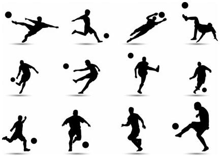 Soccer Silhouette vectors graphic