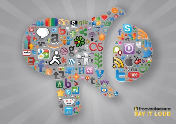 Social Communication vectors graphic