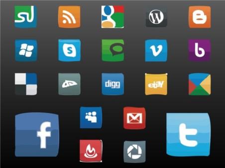 Social Icons vector