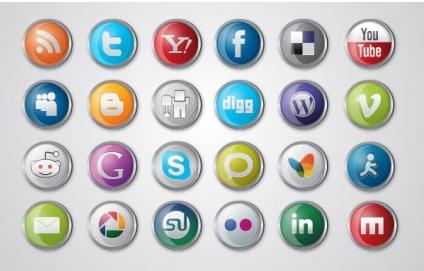 Social MediIcon vector