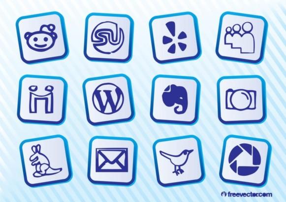 Social MediIcon Pack vector