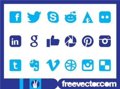 Social Medi Icons Graphics vector set