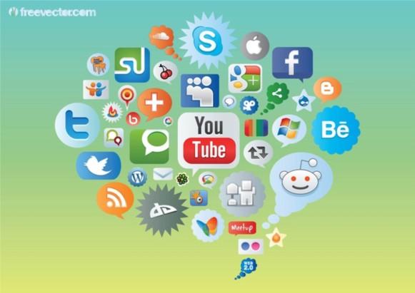 Social MediIcons vector