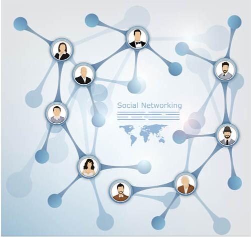 Social Network Backgrounds art vector