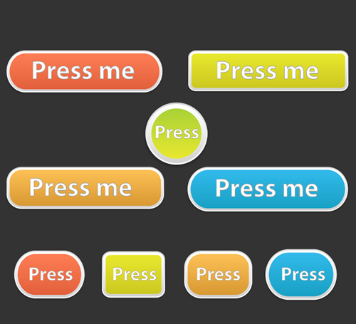 Soft Buttons Vectors shiny