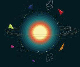 Space gradient geometric vector