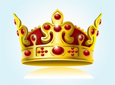 Sparkling Crown Graphic vector