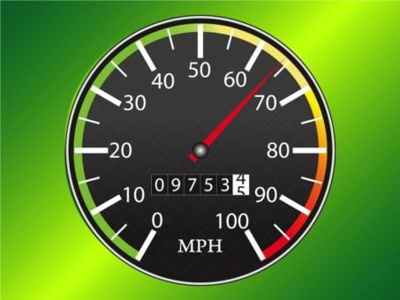 Speedometer Icon Vector vector