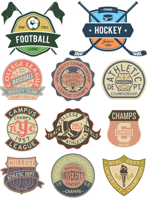 Sport Labels free vectors graphic