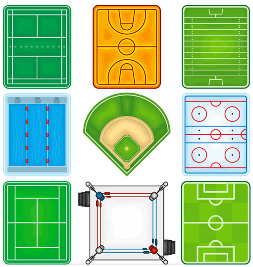 Sports Arenas vector