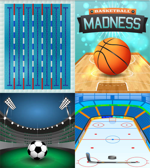 Sports Backgrounds Vector