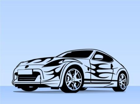 Sports Car Illustration design vectors