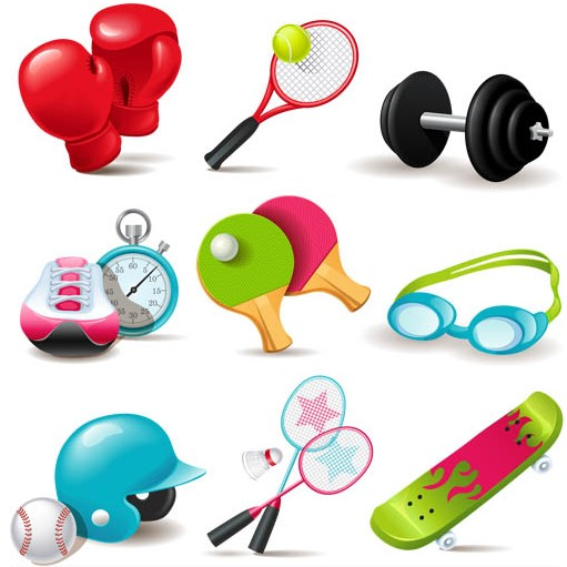 Sports Equipment vector set