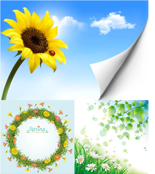 Spring Backgrounds free vector