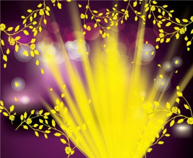 Spring Vector Background with light