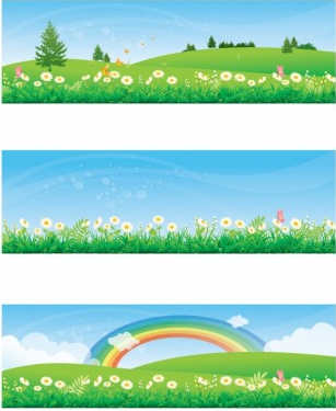 Spring and Summer Banners vector