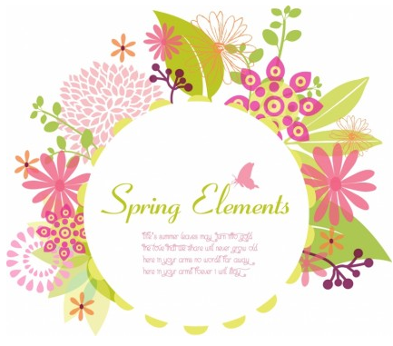 Spring frame graphic vector