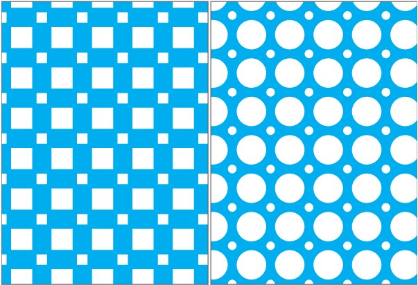 Square Circle and Stars Seamless Pattern vector