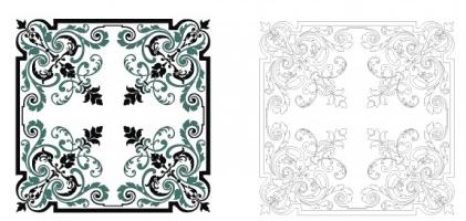 Square ornament free vector