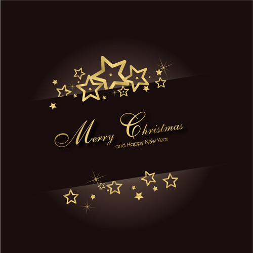 Star christmas background set vector