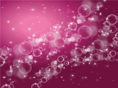Stars Bubbles Background vector